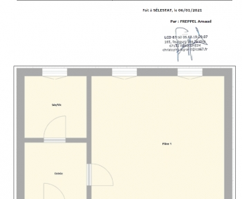 Location Studio 1 pièce Sélestat (67600) - cv